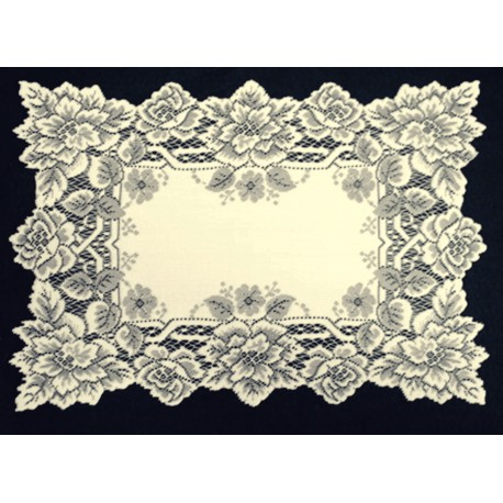 Heirloom 14x20 Ecru Set Of (4) Placemats Old Pattern Heritage Lace