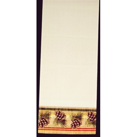 Pinecone Stripe 13x60 Cafe Color Table Runner Heritage Lace