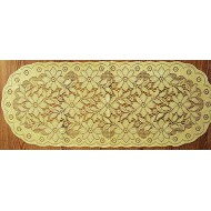 Poinsettia 14x36 Antique Gold Lame Table Runner Oxford House