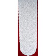 Poinsettia 13x76 White/White Table Runner Oxford House