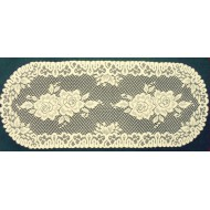 Table Runner Rose 15x36 Ivory Heritage Lace