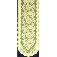 Table Runner Roses n Bows 14x54 Ivory Oxford House