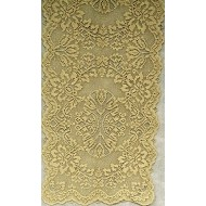 Savoy 14x36 Antique Gold Lame Table Runner Heritage Lace