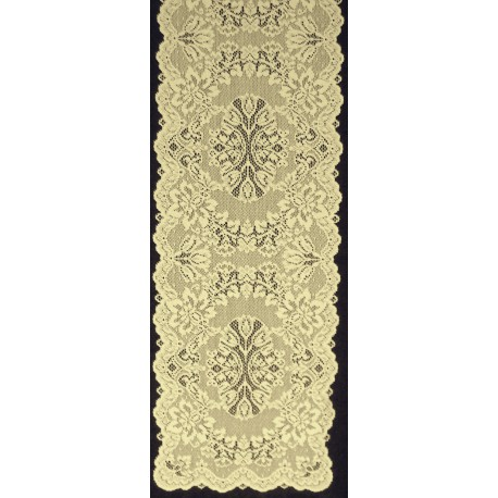 Savoy 14x54 Antique Gold Table Runner Heritage Lace