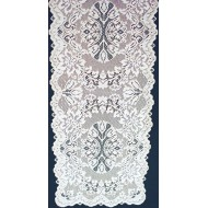 Table Runner Savoy White 14x36 Heritage Lace