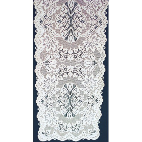 Savoy 14x36 White Table Runner Heritage Lace