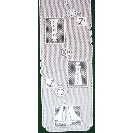 Set Sail 14x54 White Table Runner Heritage Lace