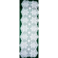 Snow 14x48 White Table Runner Heritage Lace