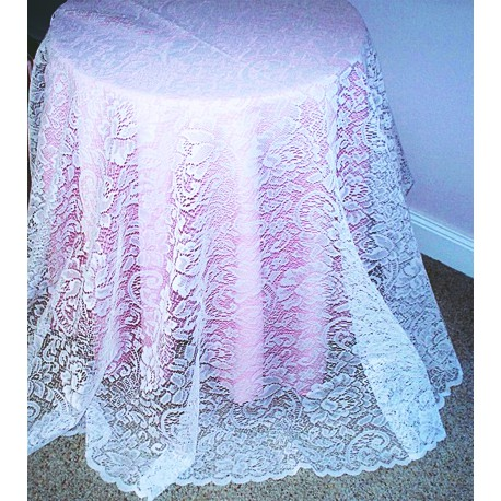 Julia 70 Inch White Tablecloth Oxford House
