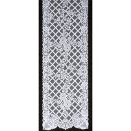 Table Runner Trellis Rose 15x54 White Oxford House
