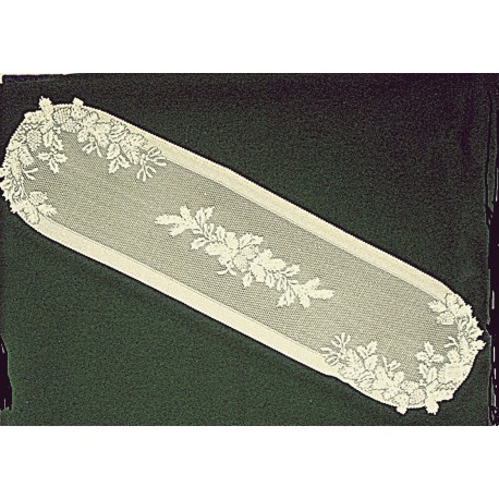 Winter Greens 14x58 Ecru Table RunnerHeritage Lace