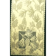 Table Runner Woodland 14x60 Ecru Heritage Lace
