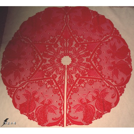 Victorian Angels 48 R Christmas Red Heritage Lace