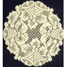 Holly Bells 12 Inch Round Ivory Set Of (2) Heritage Lace