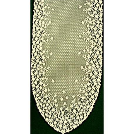 Blossom 12x46 Ecru Table Runner Heritage Lace