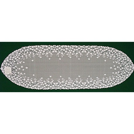Blossom 12x38 White Table Runner Heritage Lace