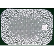 Blossom 14x20 White Placemat Set OF (4) heritage Lace