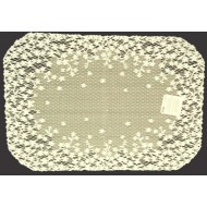 Placemats Blossom 14x20 Ecru Set Of (4) Heritage Lace