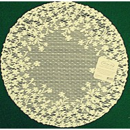 Doilies Blossom 12 Inch Round Ecru Set Of (2) Heritage Lace