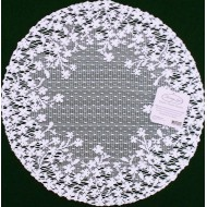 Blossom 12 Inch Round White Doily Set Of (2) Heritage Lace