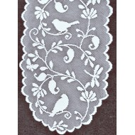 Table Runner Bristol Garden 14 x 60 White Heritage Lace