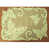 Placemats Butterflies 14x20 Ivory Set Of (4) Heritage Lace