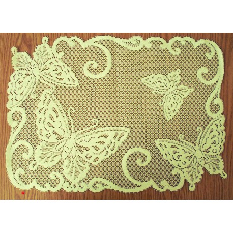 Butterflies 14x20 Ivory Placemats Set Of (4) Heritage Lace