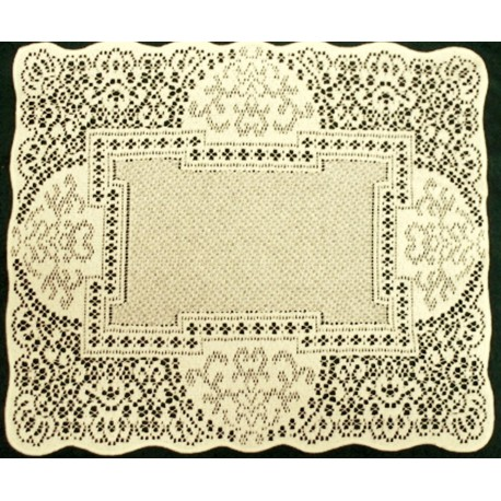 Canterbury Classic 14x19 Ecru Set Of (4) Heritage Lace