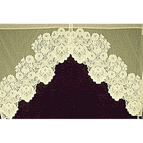 Lace Curtains Cleremont Curtain Swag 60x38 Ivory