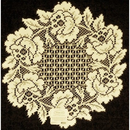 Cottage Rose 15 Inches Round Ecru Doily Set Of (2) Heritage Lace