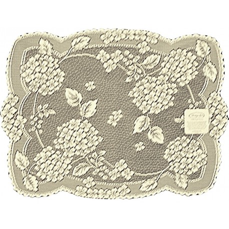 Placemats Hydrangea 14x19 Ecru Set Of (4) Heritage Lace