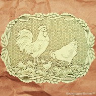 Rooster 14x19 Ecru Placemat Set Of (4) Heritage Lace