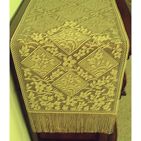 Table Runner Chantilly Gold 14x102 Heritage Lace