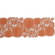 Table Runner Pumpkin Vine 14x36 Orange Heritage Lace