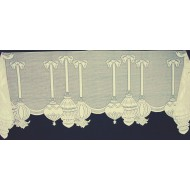 Mantel Scarf Ornaments 19x92 Ivory Heritage Lace