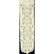 Shelf Runner Angels Piano-Shelf 9x50 Ivory Runner Heritage Lace