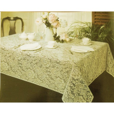 Tablecloth Julia 52x70 Rectangle Ivory Oxford House