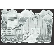 Country Farmstead 13x20 White Placemats Set Of (4) Oxford House