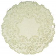 Table Topper Elizabeth 42 R Silver Sage Heritage Lace