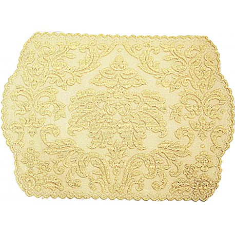 Placemats Heritage Damask Colonial Gold 14x20 Set Of (4) Heritage Lace