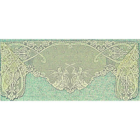 Mantel Scarf Angels 20x94 Ivory Heritage Lace