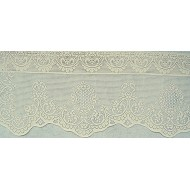 Curtain Valance Valencia 59x19 Ecru Oxford House
