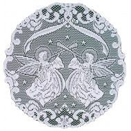 Doilies Victorian Angels Pattern 20 Inch R White Set Of (2) Oxford House