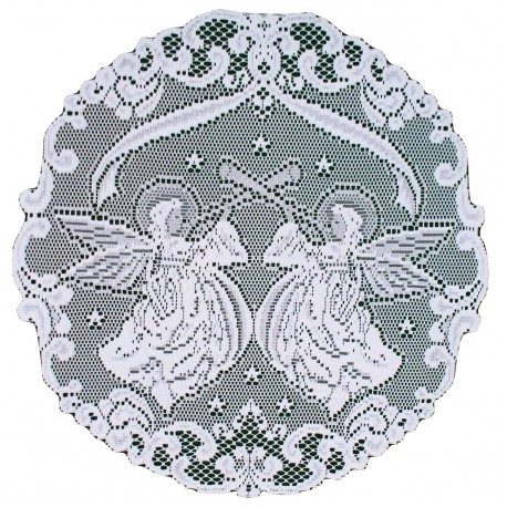 Doilies Angels 20 Inch R White Set Of (2) Heritage Lace