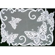 Placemats Butterflies 14x20 White Set Of (4) Heritage Lace
