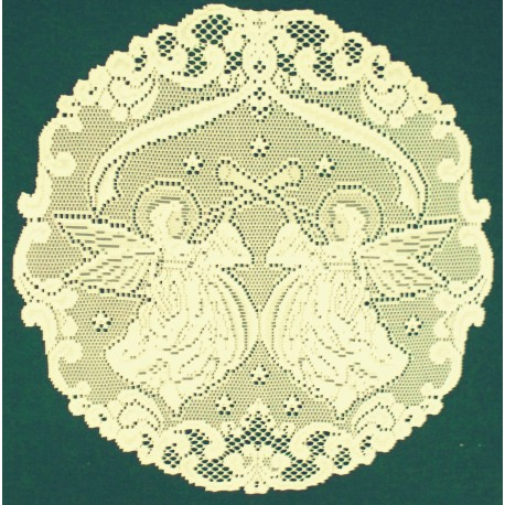 Doilies Angels Ivory 20 Inch R Set Of (2) Heritage Lace