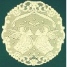 Doilies Victorian Angels Pattern Ivory 20 Inch R Set Of (2) Oxford House