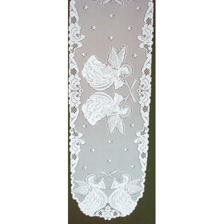 Table Runners Angels 14x52 White Heritage Lace