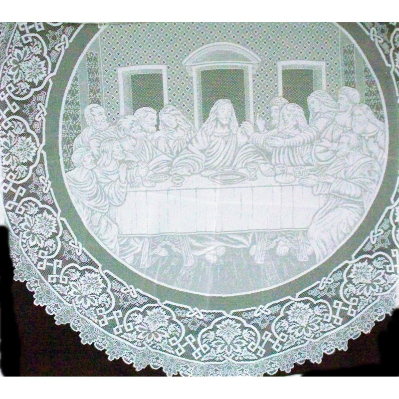 ... Tablecloths Last Supper 72 Inch Round White Oxford House ...