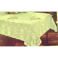 Tablecloths Snowman Family 60x104 Rectangle Ivory Heritage Lace